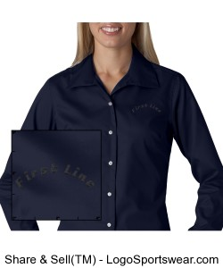 Ladies Whisper Elite Twill Shirt Design Zoom